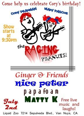 The Raging Peanuts BRING THE FUNNY!  Live Concert!